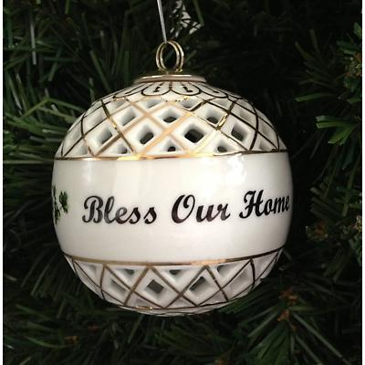 Irish Christmas Ornament - Bless Our Home Ball Ornament