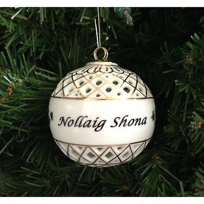 Irish Christmas Ornament - Nollaig Shona Ball Ornament