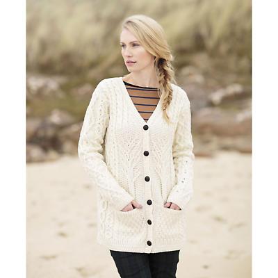 Irish Wool Sweater - Ladies Tree of Life Merino Wool Cardigan