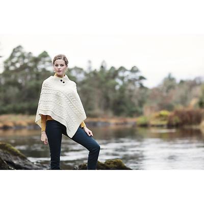 Irish Wool Sweater - Ladies Merino Wool Poncho
