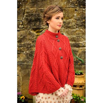 Ladies Merino Wool Buttoned Cape