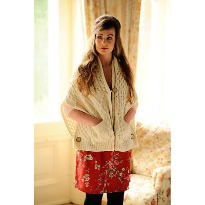 Ladies Merino Wool Double Button Wrap with Pockets
