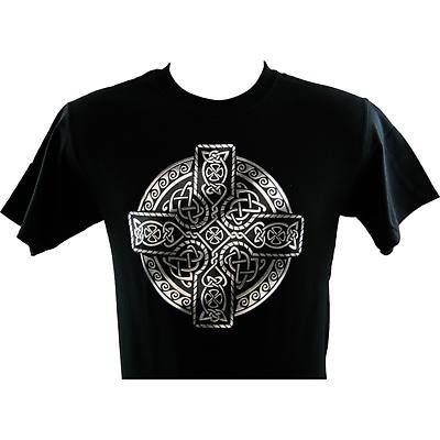 Irish T-Shirt - Printed Circle of Life - Black