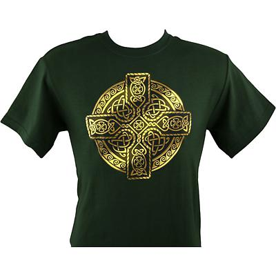 Irish T-Shirt - Printed Circle of Life - Forest Green