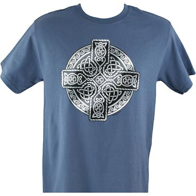 Irish T-Shirt - Printed Circle of Life - Indigo Blue