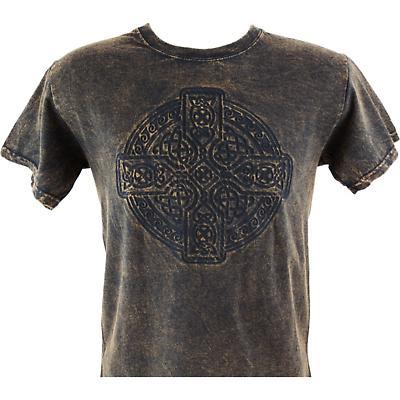 Irish T-Shirt - Embossed Circle of Life - Brown