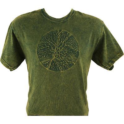 Irish T-Shirt - Embossed Tree of Life - Green