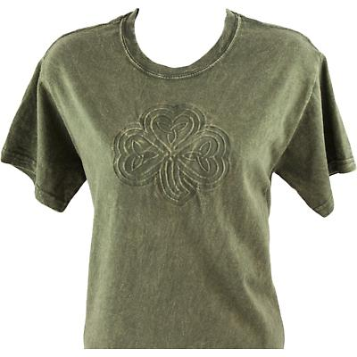 Irish T-Shirt - Embossed Shamrock Knot - Green