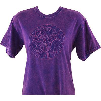 Irish T-Shirt - Embossed Triskele - Purple