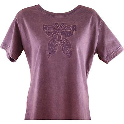 Irish T-Shirt - Embossed Scoop Neck Celtic Butterfly