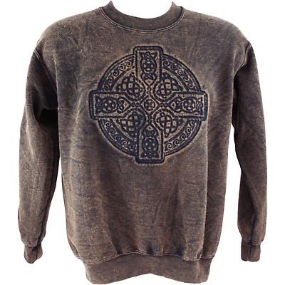 Irish Sweatshirt - Embossed Circle of Life - Brown