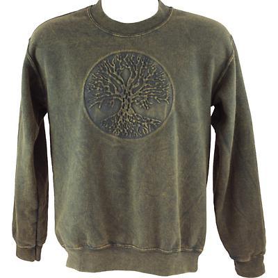 Irish Sweatshirt - Embossed Tree of Life - Green