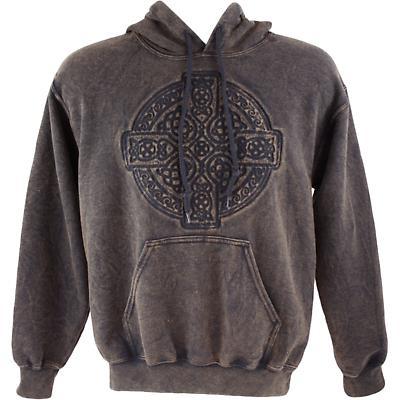 Irish Hooded Sweatshirt - Embossed Circle of Life - Brown