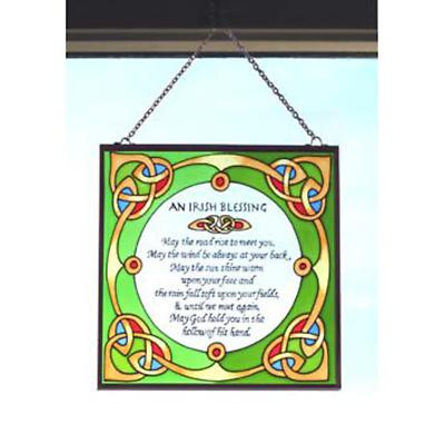 Irish Blessing Hanging Stained Glass