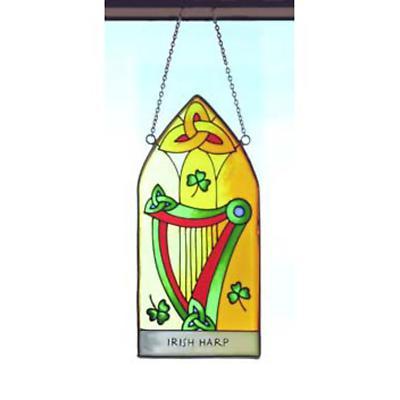 Irish Harp Hanging Stained Glass