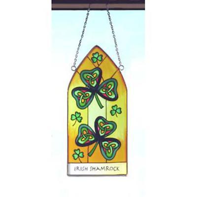 Irish Shamrock Hanging Stained Glass