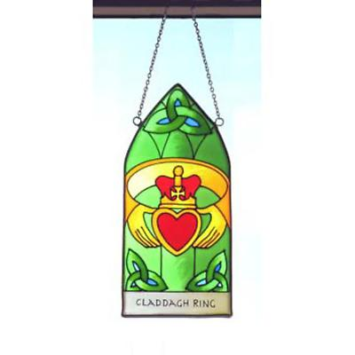 Claddagh Ring Hanging Stained Glass