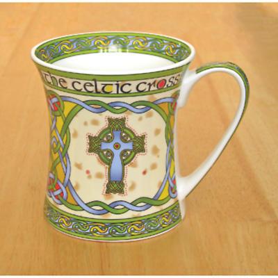Set of Four Celtic High Cross Mugs