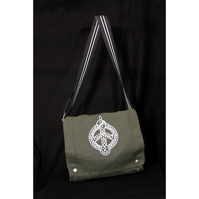 Irish Peace Knot Canvas Field Bag - Charcoal