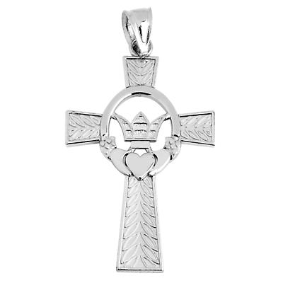 Claddagh Pendant - Sterling Silver Irish Claddagh Cross