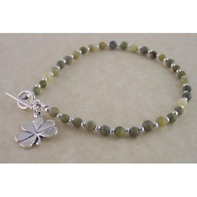 Shamrock Bracelet - Connemara Marble Shamrock Bracelet