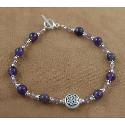 Celtic Bracelet - Gemstone & Swarovski Celtic Knot Bracelet