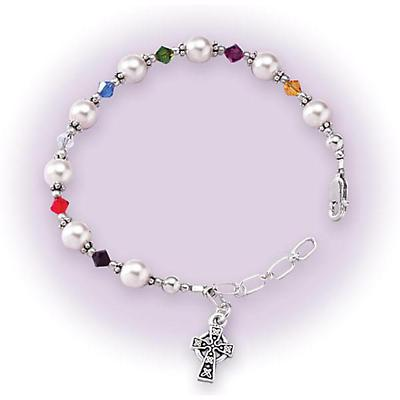 Irish Bracelet - Sterling Silver First Holy Communion Bracelet