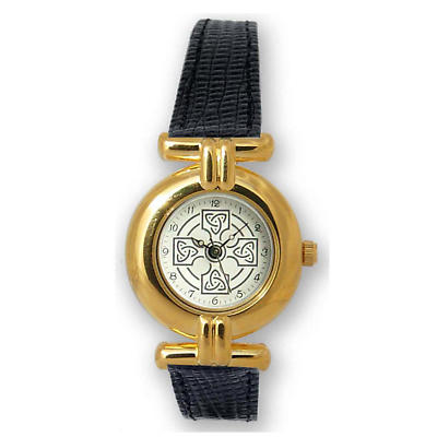 Ladies Celtic Cross Watch - Gold Plated
