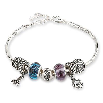 Symbols of Ireland Seven Bead Bracelet