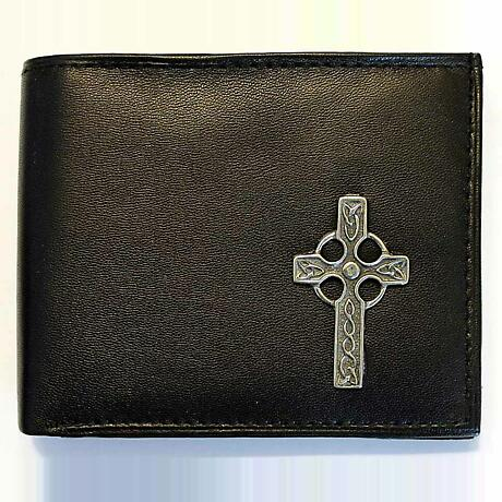 Irish Wallet - Celtic Cross Leather Wallet