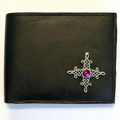 Irish Wallet - Cetlic Tara Cross Leather Wallet