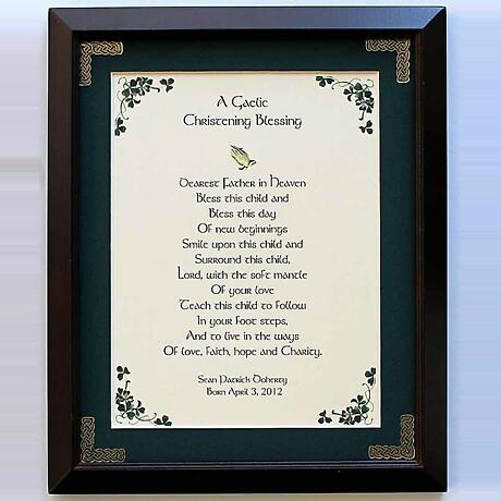 Personalized A Gaelic Christening Framed Print
