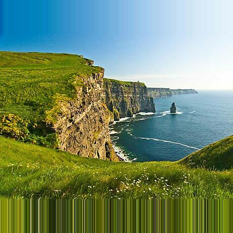 Cliffs of Moher Green Fields Irish Landscape Photographic Print