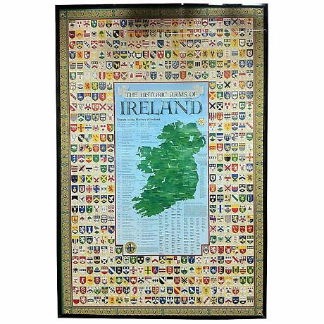 Ireland Family Coat of Arms - Poster Print