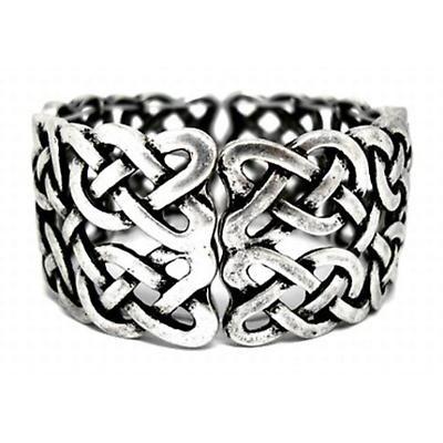 Antiqued Stretch Celtic Knot Bracelet