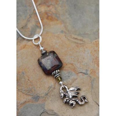 Irish Necklace - Dragon Blood Jasper Pendant with Chain