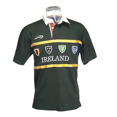 Irish Rugby Shirt - Ireland 4 Province Crest Short Sleeve Rugby Shirt
