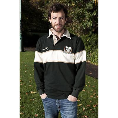 Irish Rugby Shirt - Green and Natural Ireland 3 Shamrock Rugby Shirt