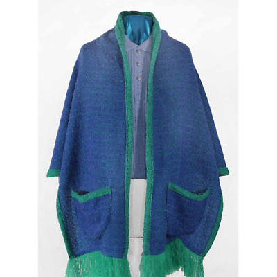 Celtic Ruana - Donegal Design 100% Mohair Ruana with Pockets