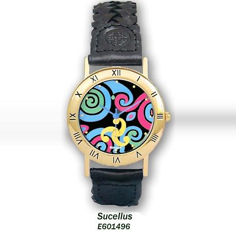 Celtic Watch - 'Sucellus' Colorful Celtic Spirals Watch