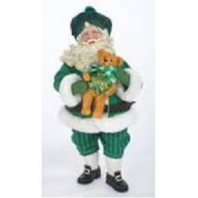 Irish Christmas - Irish Santa with Teddy Bear