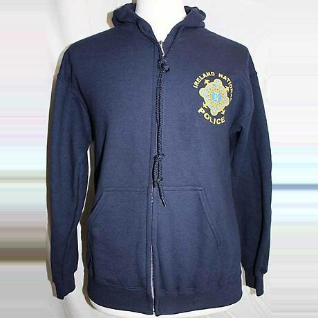 Irish Sweatshirt - Garda Irish Police Zip Hooded Sweatshirt