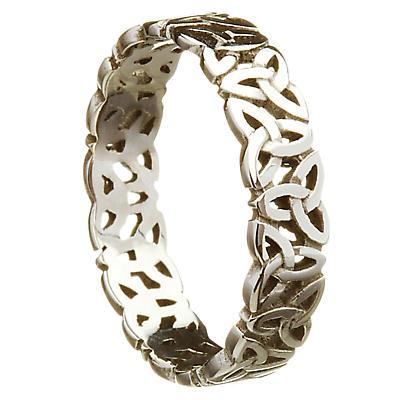 Irish Wedding Ring - Celtic Trinity Love Knot Ladies Wedding Band