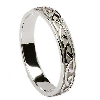 Irish Wedding Ring - Celtic Knotwork Mens Wedding Band