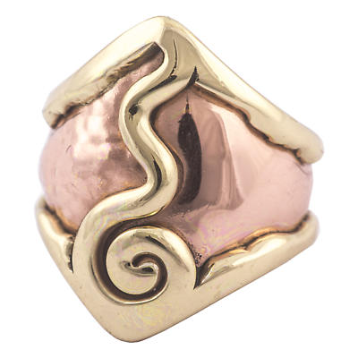 Grange Irish Jewelry - Hammered Copper Two Tone Spiral Ring