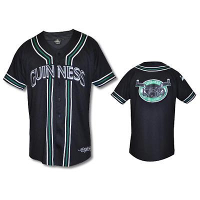 Guinness Black Baseball Jersey Shirt