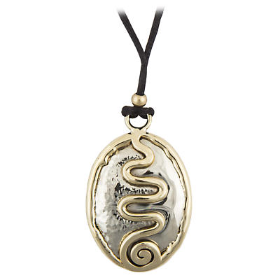 Grange Irish Jewelry - Hammered Round Silver Two Tone Celtic Spiral Pendant