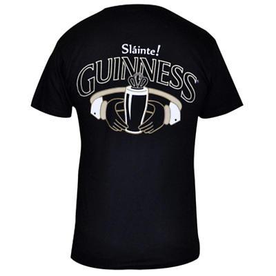 Guinness Shirt - Black Guinness Claddagh Irish T-Shirt