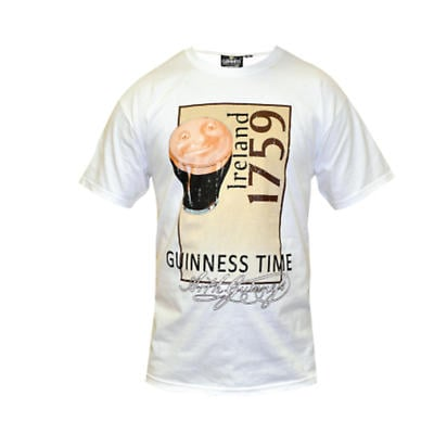 Guinness Shirt - Guinness White Pint Irish T-Shirt