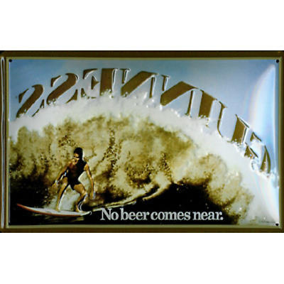 Guinness Metal Surfer Sign